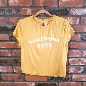 Divided H&M California 1973 Cropped Graphic Tee